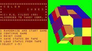 بازی Color Cubes بر روی پلتفرم TRS-80 CoCo