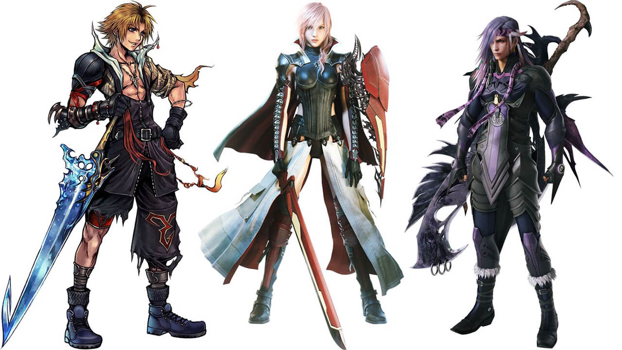 برخی کارکترهای بازی Final Fantasy که از تم Japanese Style استفاده می کنند