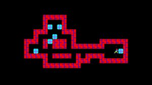 بازی Sokoban بر روی پلتفرم PC-88